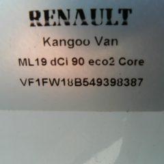 2013 63 RENAULT KANGOO ML19 DCI 90